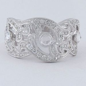 14kt White gold Diamond Wedding Ring, 0.40cts
